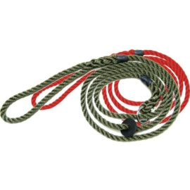Bisley Deluxe Dog Slip Lead Green Red