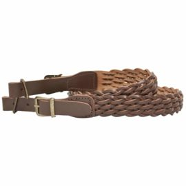 Bisley Brown Leather Plaited Rifle Sling