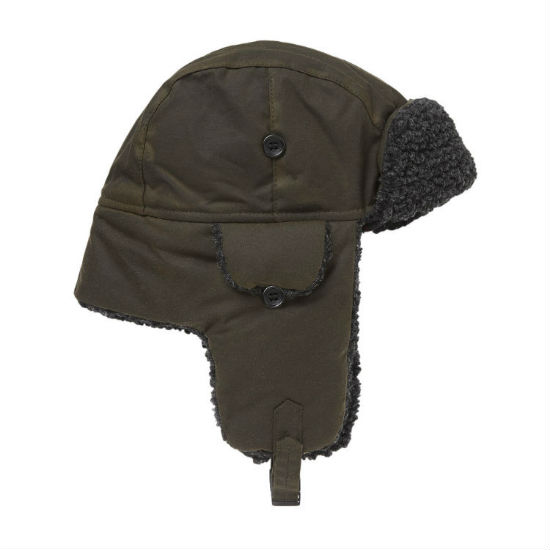 Barbour Fleece Lined Trapper Hat Olive MHA0033OL51