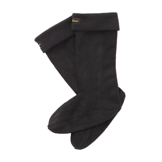 Barbour Fleece Wellington Sock Footwear Accessories Blac UFA0006BK11