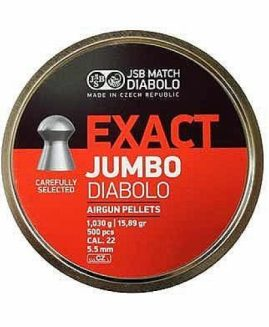 JSB Exact Diabolo Jumbo .22 Air Rifle Pellets 5.50 / 5.51 / 5.52 x500