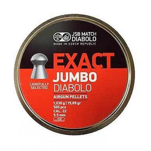 JSB Exact Diabolo Jumbo .22 Air Rifle Pellets 5.50 / 5.51 / 5.52 x500