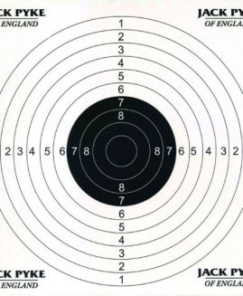 Jack Pyke Card Air Rifle Targets x 100 (14x14cm)