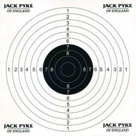 Jack Pyke Paper Air Rifle Targets x 100 (14x14cm)