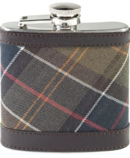 Barbour Classic Tartan Drinks Hip Flask