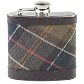 UAC0007BR11 Barbour Tartan Hip Flask