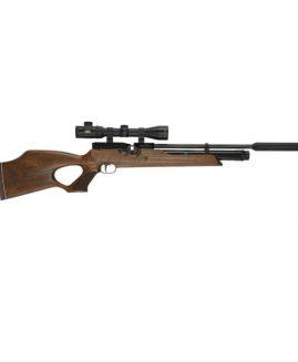 Weihrauch HW100 T KT .177 .22 .20 Thumbhole Air Rifle & Silencer