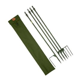 Jack Pyke Super Hide Poles (x4) And Hunters Green Or English Oak Carry Bag