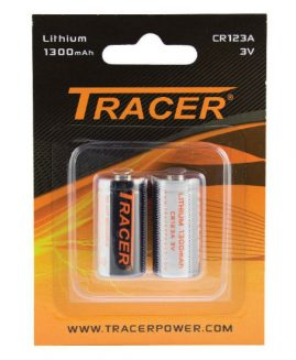 Tracer CR123A Lithium Batteries 3v 1300mAh 2 Pack
