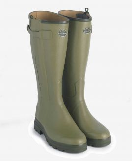 Le Chameau Chasseur Cuir Leather Lined Wellington Boots Wellies & Free Boot Bag