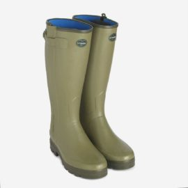 Le Chameau Chasseur Nord Neoprene Zip Wellington Boots Wellies & Free Boot Bag