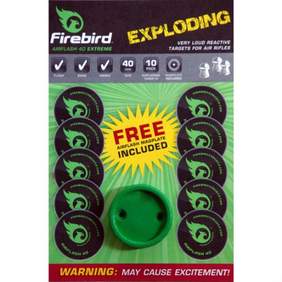 Firebird Exploding Targets Green