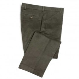 Hoggs of Fife Monarch Moleskin Trousers Olive