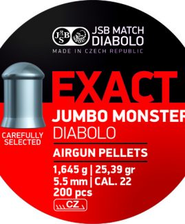 JSB Exact Diabolo .22 Jumbo Monster Air Rifle Pellets
