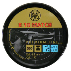 RWS R10 Match Pistol 177 air rifle pellets