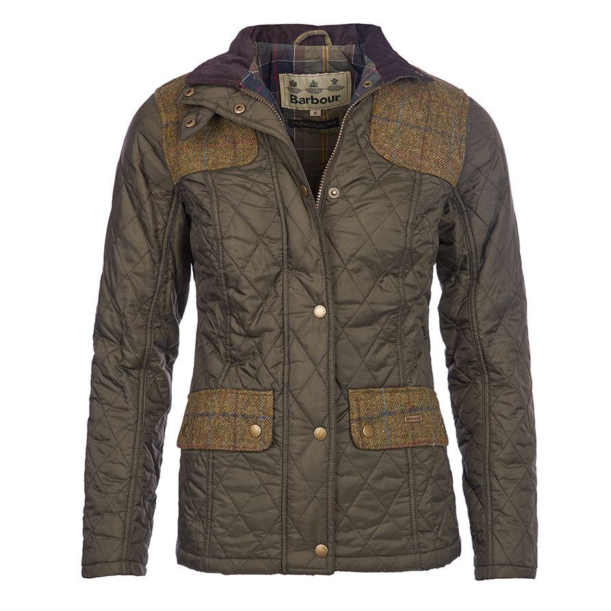 Womens barbour quilted jacket sale