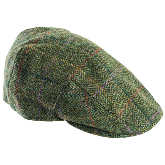 Barbour Moons Tweed Flat Cap Herringbone