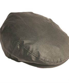 Barbour Sylkoil Wax Flat Cap - Olive