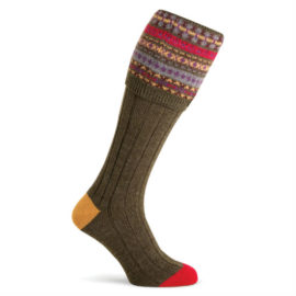 Pennine D254 Fairisle FIR Shooting Socks