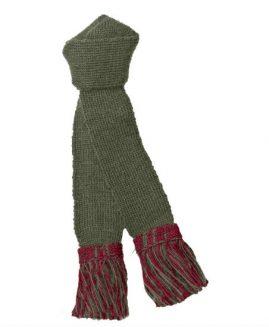 Pennine Olive Ruby Contrast Shooting Sock Garter