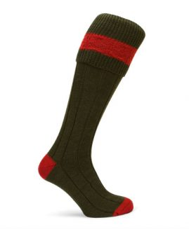 Pennine Byron Olive Shooting Socks