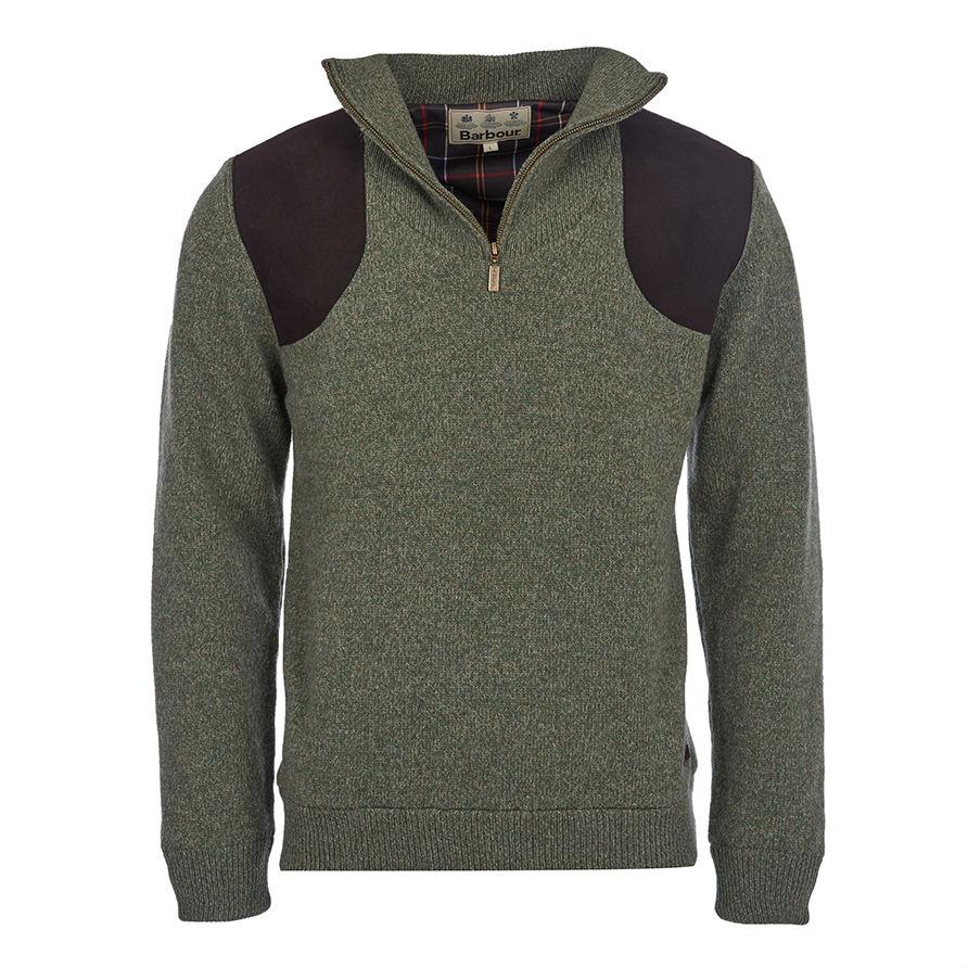 Barbour Jumper Mens Tyne Zip Neck Sweater - Aztec Sweater ...