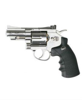 "Dan Wesson 2.5"" Silver .177 Pellet CO2 Revolver Air Pistol"