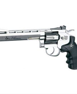 """Dan Wesson 6"""" Silver .177 BB CO2 Revolver Air Pistol"""