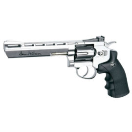 Dan Wesson 6 Silver 177 BB Pellet CO2 Air Pistol