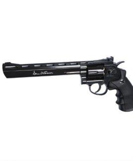 "Dan Wesson 8"" Black .177 Pellet CO2 Revolver Air Pistol"