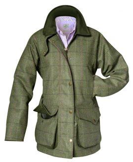 Hoggs of Fife Ladies Caledonia Tweed Shooting Coat Jacket