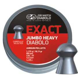 JSB Jumbo Exact Heavy .22 Air Rifle Pellets x500