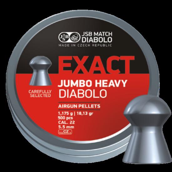 JSB Jumbo Exact Heavy .22 Air Rifle Pellets x500