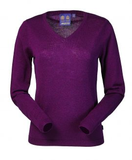 Musto Ladies Lightweight V Neck Jumper Bordeaux CS1900