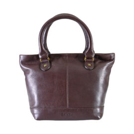 Barbour Preston Leather Tote Bag - Black or Brown