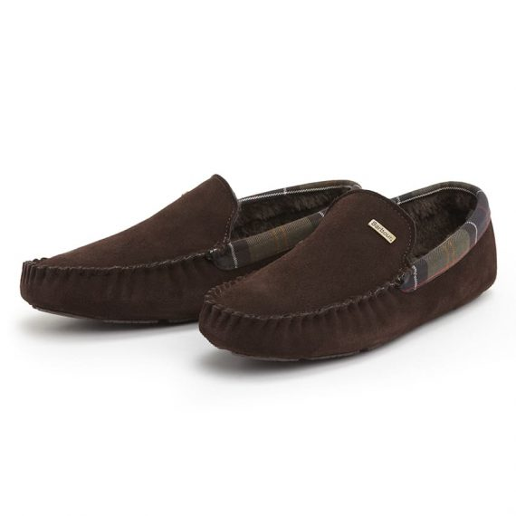 MFO0217BR51 Barbour Monty Slippers Brown