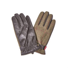 Barbour Country Tweed Leather Gloves