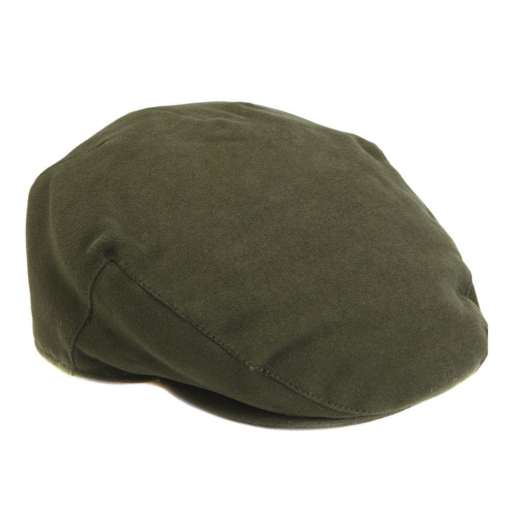 MHA0012OL11 Barbour Moleskin Flat Cap Olive