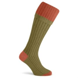 Pennine Melton Orange Shooting Socks