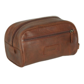 UBA0009BR71 Barbour Leather Washbag