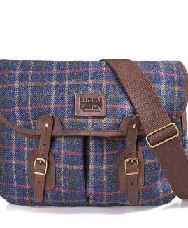 Barbour Tweed Tarras Bag - Navy