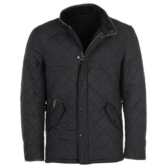 mqu0281bk11 Barbour Powell Quilt Jacket Black