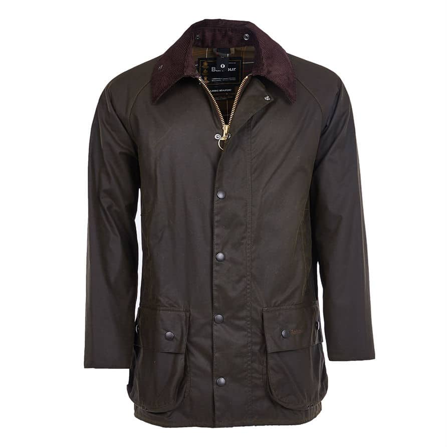 Barbour Beaufort Wax Jacket - Olive