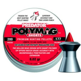 JSB Predator Polymag Short Air Rifle Pellets .177 .22 .20