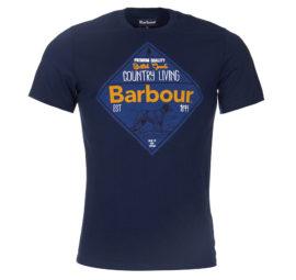 MTS0185NY91 Barbour Gundog T Shirt Navy