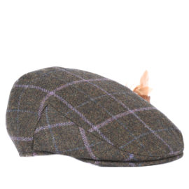 Barbour Ladies Tweed Flat Cap
