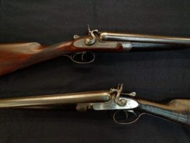 J. Purdey 12 Bore Bar in Wood Toplever Hammerguns - Pair