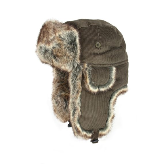 Jack Pyke Corduroy Brown Trapper Hat
