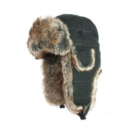 Jack Pyke Wool Blend Trapper Hat - Green Check