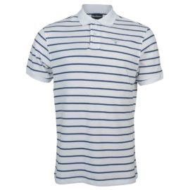 MML0650WH11 Barbour Men's Sports Stripe Polo Shirt